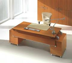 office desk designs. Beautiful Office Adorable Brown Wooden Office Desk Designs With Two Levels Plus Modern Gray  Chrome Table Lamp White Framed Cream Chair Flooring  Inside