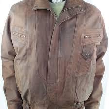 men s brown nubuck leather jacket