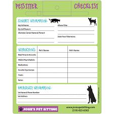 Velcro Memo Board Pet Sitter Checklist Memo Board 100100x100 Laminated Magnets or 17