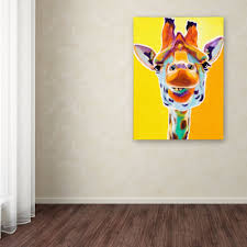 modern abstract hang pictures handpainted lovely baby giraffes art animal oil paintings on canvas wall pictures for home decor in painting calligraphy