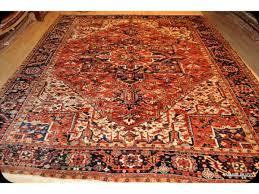 antique persian heriz rug 10 x 12 natural wool natural color rug