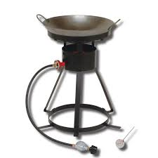 king kooker 54 000 btu bolt together portable propane gas outdoor cooker with special recessed wok ring
