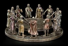 round table king arthur with 12 knights