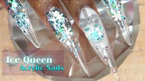 acrylic nails tutorial how to encapsulated nails with nail forms 3d ornament