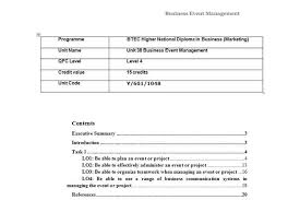 unit business event management assignment hnd assignment help unit 38 business event management assignment