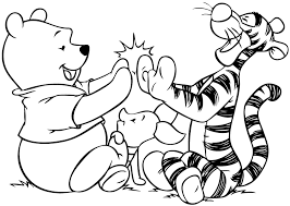 Free Winnie The Pooh Coloring Pages Many Interesting Cliparts