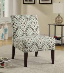 Printed Chairs Living Room Coaster 902191 Beige Brown Light Blue Printed Fabric Accent Chair