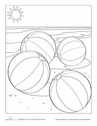 Small Picture Beach Ball Coloring Page Beach ball Worksheets and Beach