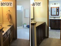 Small Master Bathroom Before And After Home Decorating - Before and after bathroom renovations