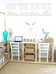 desk components for home office. Build Office Desk Homemade Stunning Home Ideas Best About . Components For