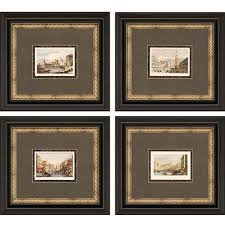 venice by prout 23 x 20 inch framed art set of four on rectangular framed wall art with paragon wall art free shipping bellacor
