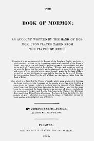 title page for book 165 the original book of mormon title page byu studies