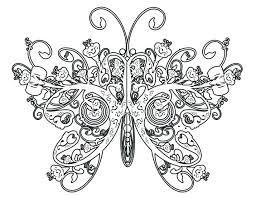 Coloring Pages Of Butterflies To Print Simple Printable Butterfly