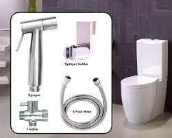 The aqua nexus includes a bidet sprayer 4 ft hose t valve and a