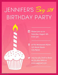 21St Birthday Party Invitation Flyer Template | Postermywall