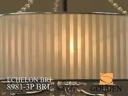 golden lighting echelon chrome five light chandelier with bridal veil shade