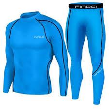 <b>Findci Men Compression Long</b> Sleeve Tops Fitnesss Pants Suits ...