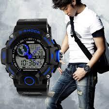 waterproof digital led alarm date mens wrist watch military sport image is loading waterproof digital led alarm date mens wrist watch