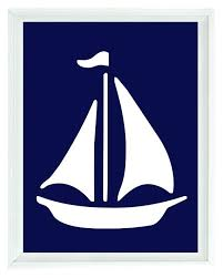 sail boat wall decor