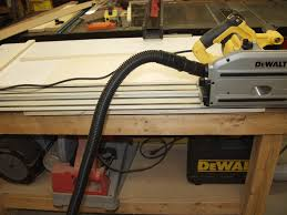 dewalt track saw. also the saw is much quieter than my full size dewalt circular saw. it does not scream nearly as much. track