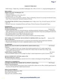Investment Banking Resume Template New Resume Samples For Banking