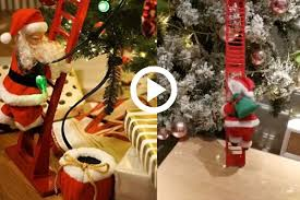 This Electric Santa Climbing Ladder Will Be Your Favorite Christmas Decor