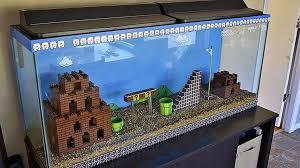 Mario Brothers Aquarium Decorations A Super Mario Brothers Aquarium The Luxury Spot