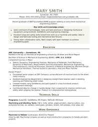 Hydraulic Engineer Resume Examples Mechanical Entry Level Sample For