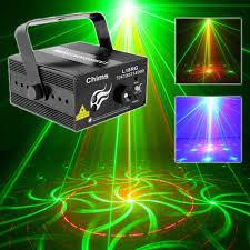 Online Laser Light Show Stage Laser Dj Lights 3 Lens Red Green 18 Patterns Light