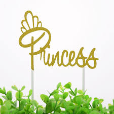 <b>20pc Cake Toppers Flags</b> Princess Queen Girl Glitter Cupcake ...