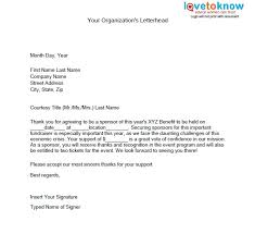 Sponsorship Thank You Letter Fundraising Letter