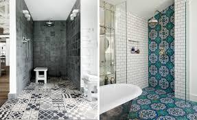 patterned tiles shower