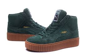 puma high tops womens. women\u0027s puma classic retro high-top shoes olive high tops womens