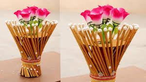 News Paper Flower Vase Newspaper Flower Vase Flower Vase Making Newspaper Craft Diy