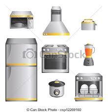 kitchen appliances clipart. Simple Appliances Kitchen Appliances  Csp12269160 Inside Appliances Clipart R