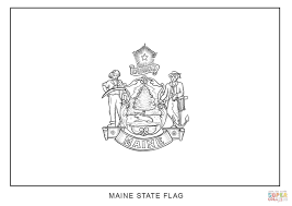 Small Picture Flag of Maine coloring page Free Printable Coloring Pages