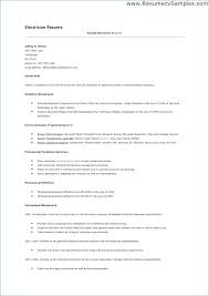 Sample Resume For Electrical Technician Custom Resumes For Electricians Examples Electrician Resumes Electrician