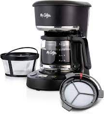 Find amazing products in mr. Amazon Com Mr Coffee 5 Cup Programmable 25 Oz Mini Brew Now Or Later With Water Filtration And Nylon Reusable Filter Coffee Maker Black Kitchen Dining