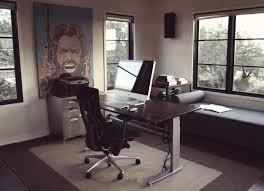 interesting home office desks design black wood. Interesting Home Office Ideas Using Cool Computer Desks Design Ideas: Black Leather Swivel Chair Also Wood N