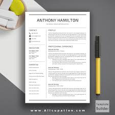 professional resume template cover letter word modern creative professional resume template cv template 1 2 and 3 page resume