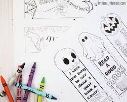 Get the templates for 7 different print + fold halloween bookmarks. Halloween Bookmarks Printable Brilliant Little Ideas
