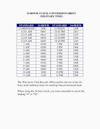 24hr Conversion Chart 24 Hour Clock Chart Conversion 24 Hour Military Time Clock