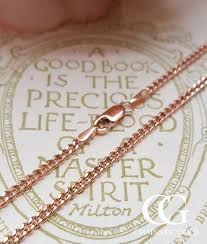 9ct rose gold 2mm close curb chain necklace 18 22