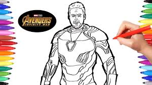 Avengers Infinity War Iron Man Avengers Coloring Pages Watch How