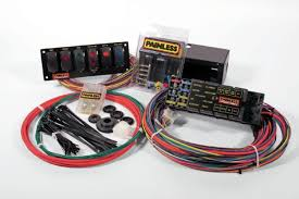 how to wire vintage ford racers race circuits how to make a race car wiring harness 1 the painless 50005 chassis harness features a compact fuse relay panel that is fully labeled with all circuit information and generous wire lengths