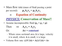 physics conservation of mass