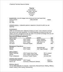 Resume Example Resume Outline Worksheet Templates Resume Format