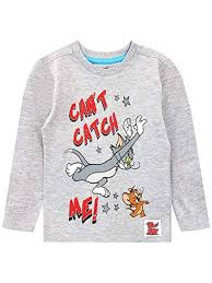 Amazon Com Tom And Jerry Boys Long Sleeve Top Clothing