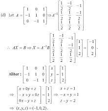 of linear equations using matrices