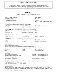 Movie Theatre Resume Acting Resumes Templates Pin By On Resume Career Free Acting Career